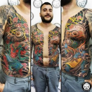 japanese color bodysuite tattoo patong
