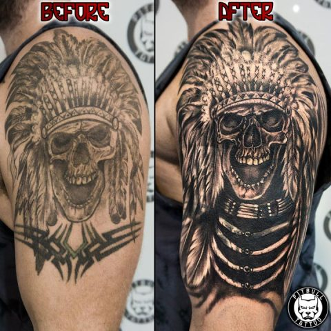 Remake tattoos by Pitbull Tattoo Phuket - Gallery