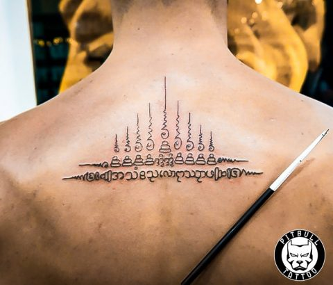 Bamboo Sak Yant Tattoo by Pitbull Tattoo Phuket