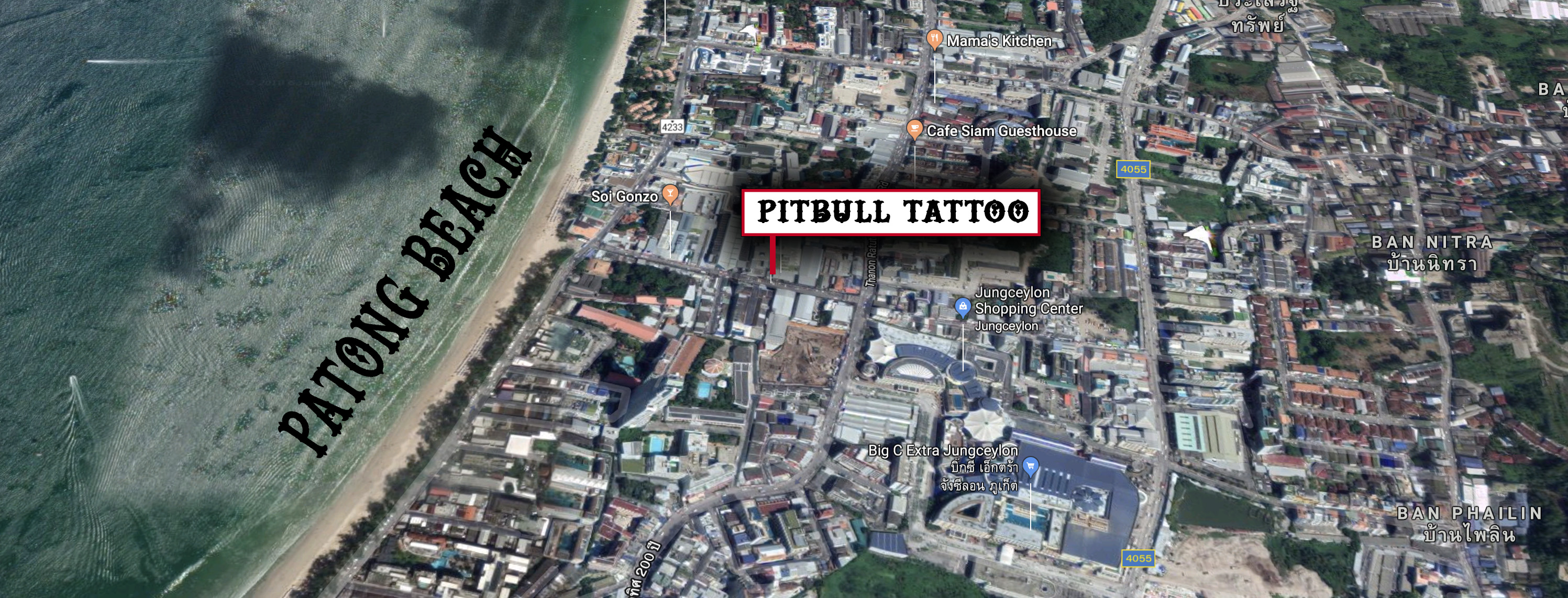Pitbull Tattoo Phuket Studio location