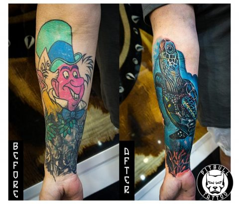Cover Up Tattoo by Pitbull Tattoo Phuket
