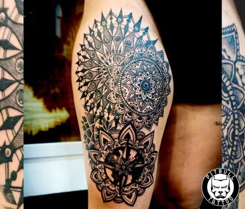Mandala Tattoo by Pitbull Tattoo Phuket