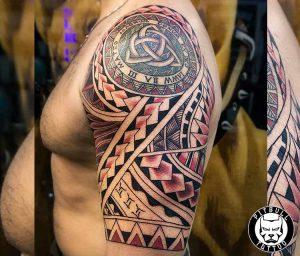 polynesian shoulder tattoo phuket