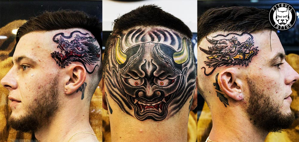 japanese head tattoo phuket