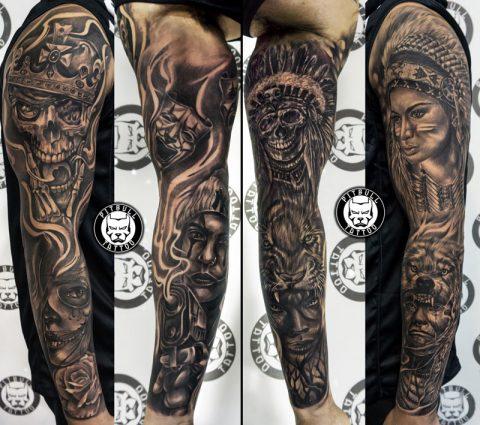 Black Grey Tattoo by Pitbull Tattoo Phuket