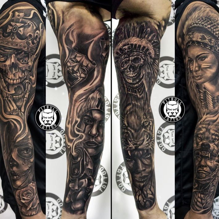 Black and Grey Tattoo by Pitbull Tattoo Phuket