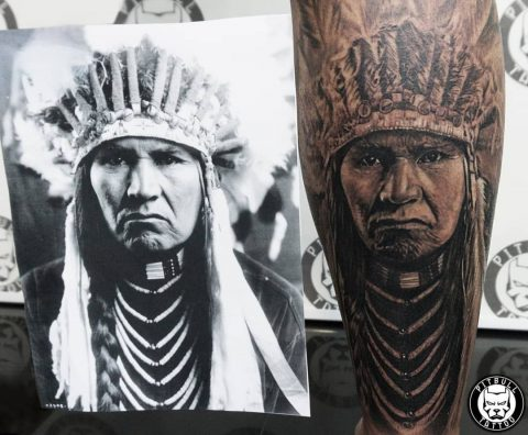 Black Grey Tattoo by Pitbull Tattoo Phuket