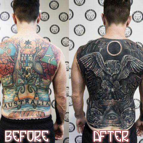 Cover up tattoos by Pitbull Tattoo Phuket - Gallery