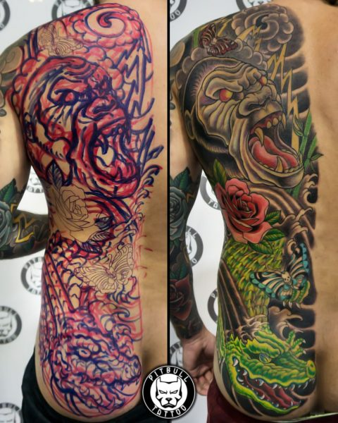 Freehand tattoo by Pitbull Tattoo Phuket