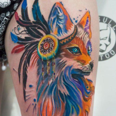 Färg tatueringar