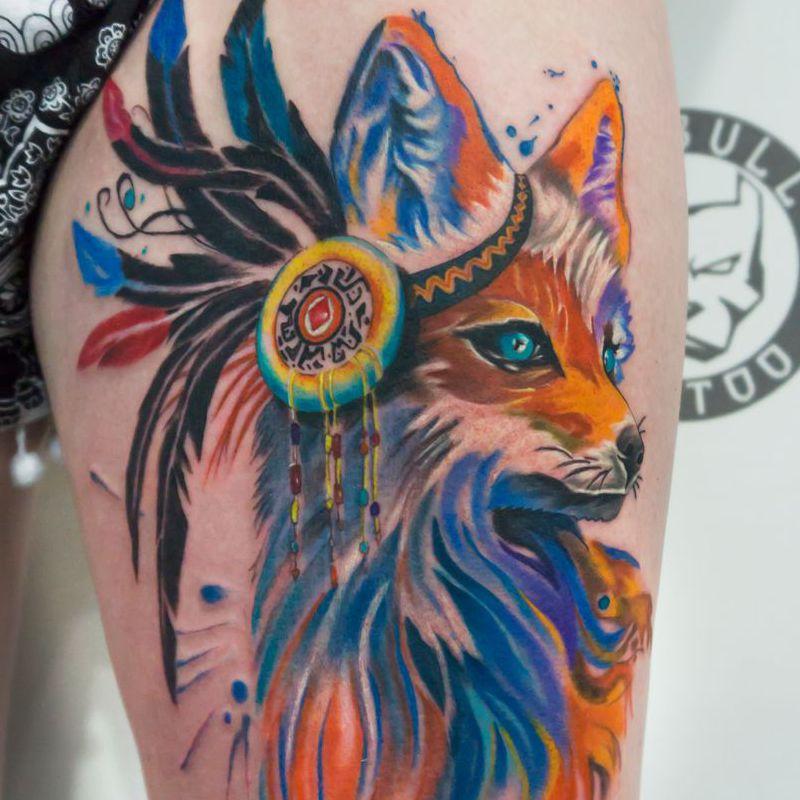 Color tattoo by Pitbull Tattoo Phuket