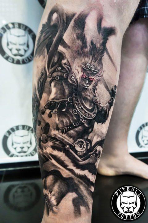 Sund Wukong tatto by artist Korn